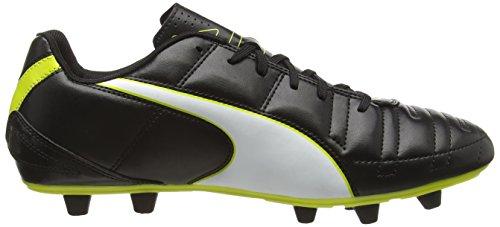 Puma Universal II FG - zapatillas de fútbol de material sintético hombre Negro - Schwarz (black-white-sulphur spring 14)