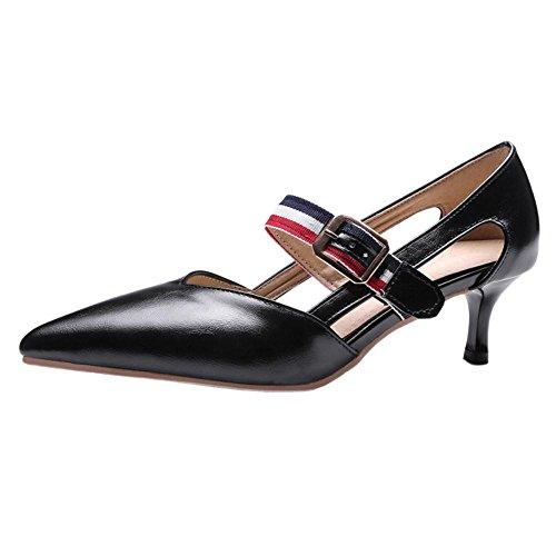 COOLCEPT Damen Kitten-Heel Pumps Black