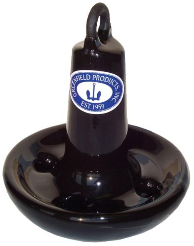 Greenfield Products 515B Marine Black Coated Mushroom Anchor - 15 Pound Capacity by Greenfield