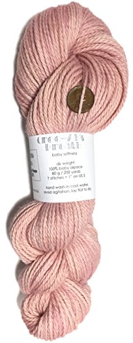 Artisan Yarns Hand Dyed Baby Alpaca Yarn, Subtle Shades Lobster Bisque, Dk Weight, 80 Grams, 200 Yards, 100% Baby ()