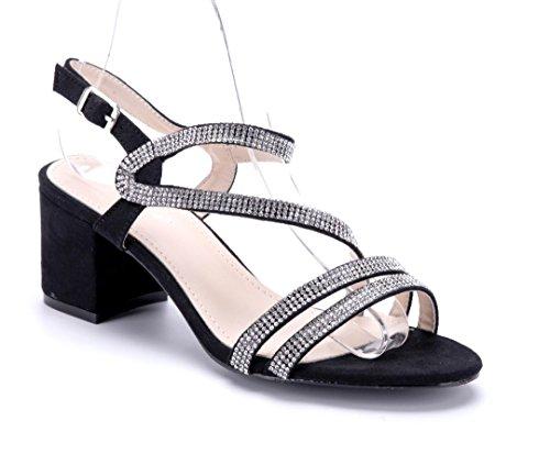 4e7eb07b19c93e Bester Shop Zum Kauf Schuhtempel24 Damen Schuhe Sandaletten Sandalen Silber  Blockabsatz 6 cm Größte Anbieter Online