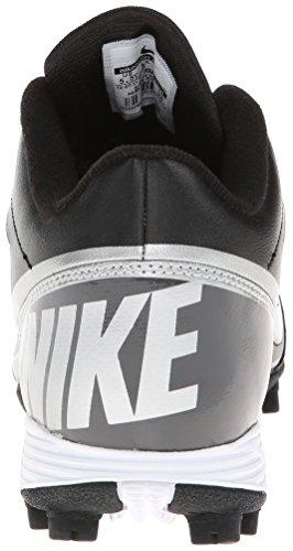 Nike Kids Boy's Land Shark 3/4 BG (Toddler/Little Kid/Big Kid) Black/Tornado/Metallic Silver  5.5 Big Kid M - Image 1