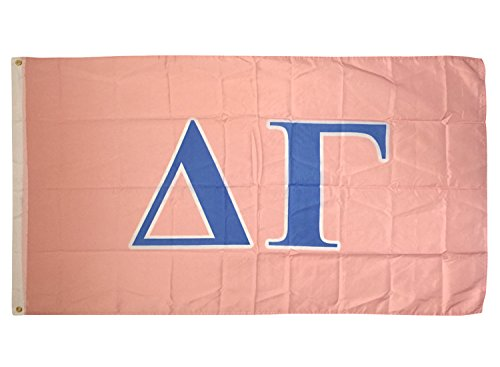 Delta Gamma Letter Sorority Flag Greek Letter Use as a Banner Large 3 x 5 Feet Sign Decor DG