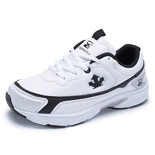Summer White Negro de Flat Blanco Blanco Comfort Mesh ZHZNVX Negro Sneakers amp; Mujer Zapatos Spring Heel YZ5FqSO