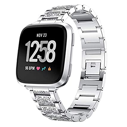Amazon.com: Crystal Wirst Watch Wrist-Band Strap Stainless ...
