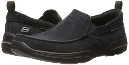 Skechers USA Men's Harper Delen Slip-On Loafer,Black Canvas,10 M US by Skechers (Image #6)