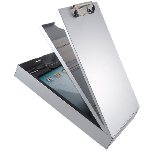 Saunders Recycled Aluminum Cruiser-Mate II Storage Clipboard with Dual Tray Storage - Legal Size - - Clipboard Antimicrobial Aluminum Recycled