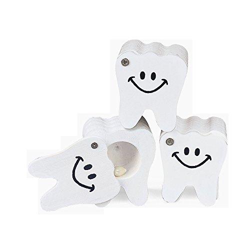 White Wooden Tooth Treasure Keepsake