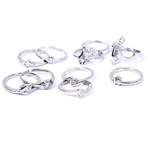 Fashion-Woman-Wholesale-Lots-10pcs-Mixed-Silver-Zircon-Diamond-Rings-Set-03