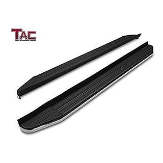 TAC Running Boards For 2009 2015 Honda Pilot SUV Aluminum Black Side Steps  Nerf Bars