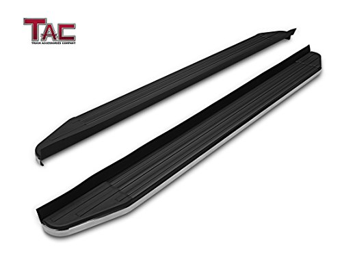 TAC Running Boards Fit 2007-2017 Chevy Traverse / 2007-2016 GMC Acadia (Excl. Denali) / 2007-2010 Saturn Outlook / 2007-2009 Buick Enclave SUV Aluminum Black Side Steps Nerf - Buick Boards Running