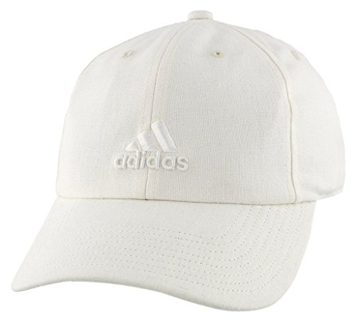 adidas Women's Saturday Plus Relaxed Adjustable Cap, White Linen, One Size