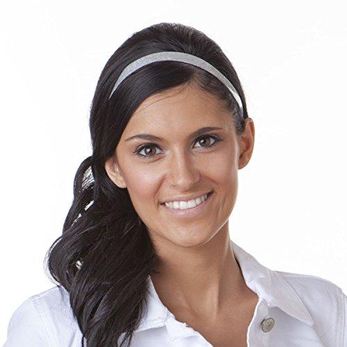 Hipsy Women's Headband Adjustable Multi Glitter 5pk Silver, Black, Gold, White