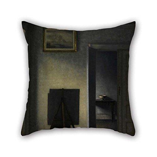 TonyLegner Pillow Cases of Oil Painting Vilhelm Hammersh?i