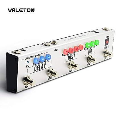 Valeton Dapper Pedales multi-efectos y pedales para guitarra eléctrica con fuente de alimentación 4