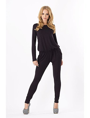 GSP-Damen Jumpsuits - Leger / Übergröße Langarm Polyester Mikro-elastisch