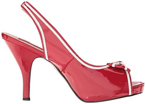 Patente Pleaser Label Pink blanco rojo PINUP 10 5zz1wqI