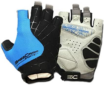 Cycling Gloves Bicycle Gloves Bike Gloves Mens Womens Shock-Absorbing Pad Anti-Slip Half Finger Weight Lifting Gloves Biking Gloves Workout Gloves Mountain Climbing Bicycle Exercise Gloves