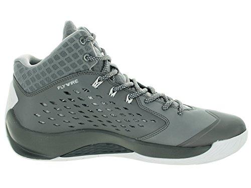 Nike Jordan Rising High Basketball Schuhe Cl Gry / Weiß / Wlf Gry / Infrrd 23