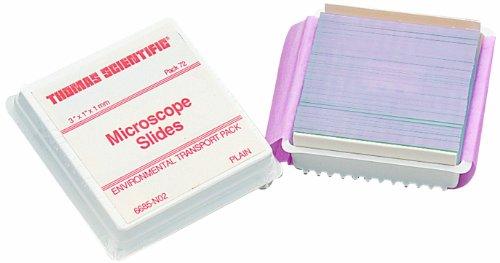 Thomas 421-004T Environmental Sandblasted Microscope Slide, 1mm Thickness, 25 x 76mm (72 slides)