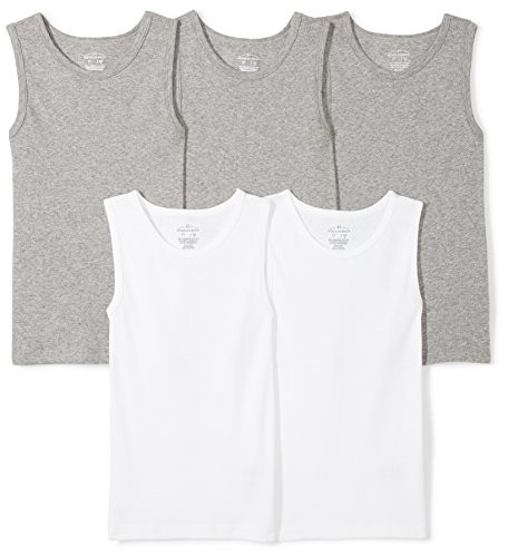 r Set of 5 Organic Muscle Tanks, Grey Heather, 5T ()