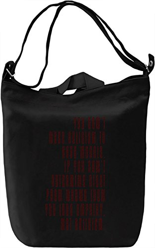 Morals without Religion Borsa Giornaliera Canvas Canvas Day Bag| 100% Premium Cotton Canvas| DTG Printing|