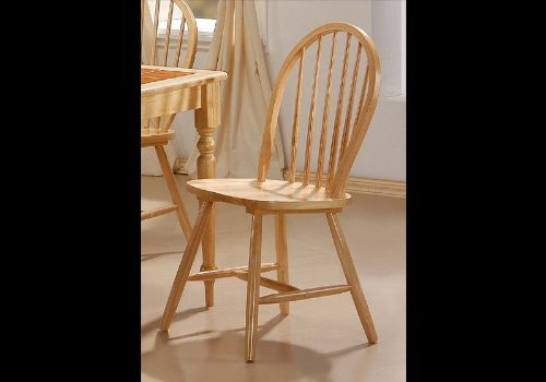 Natural Finish Spindle Back Wood Dining Chair Set Of 4 Price