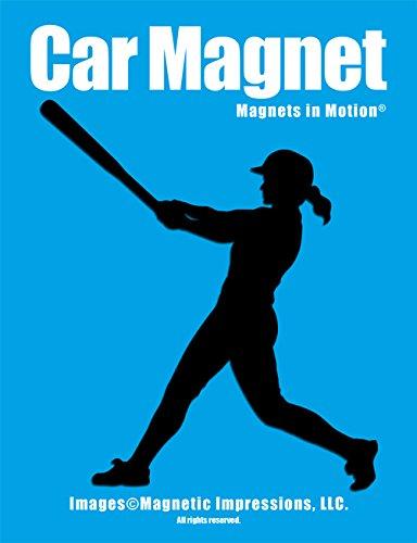 Softball Batter Swing Car Magnet ()