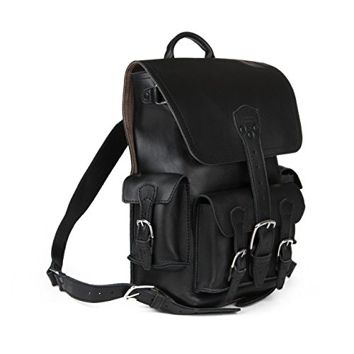 Saddleback Leather Co. Thin Front Pocket Full Grain Leather Laptop Computer Backpack School Business Travel Includes 100 Year Warranty