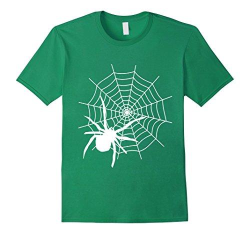 Mens Halloween Spider Web Shirt XL Kelly (Green Halloween Spider Web)
