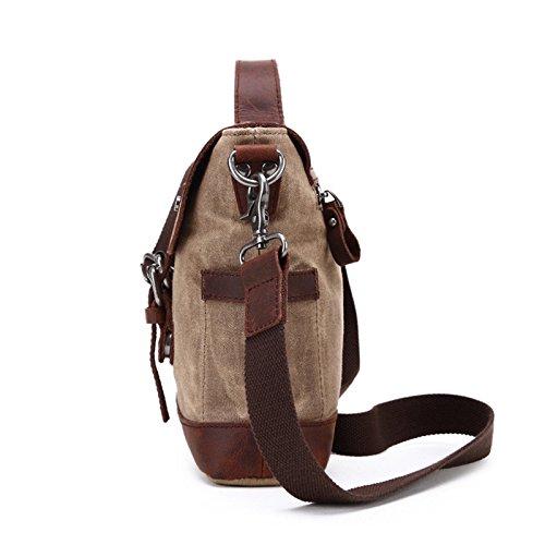 mefly impermeable bolso ordenador bolsa solo hombro oblicuo Cruz bolsa bolsa de lona, caqui caqui