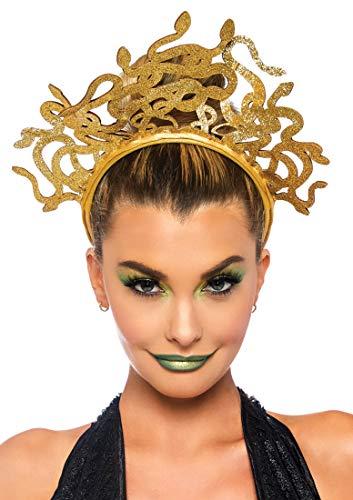 Leg Avenue Women's Medusa Costume Headband, Gold, O/S
