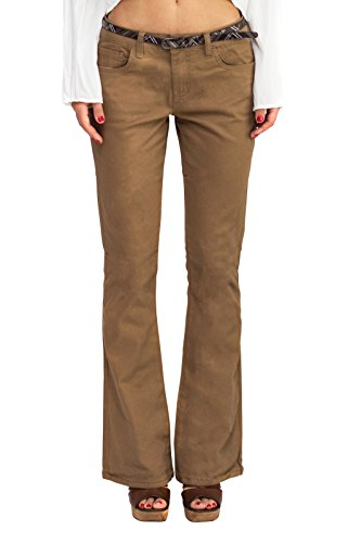 [BeBop Women's Flare Pant, Mascot, Size 3, Stretch Cotton Twill, Removable Belt] (Create A Mascot)