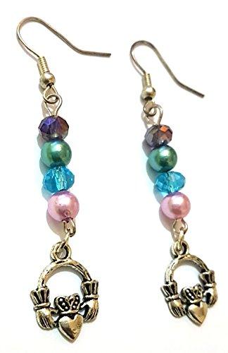 Rebeljewel Simple Elegant Handmade Silver Claddagh Charm And Beads