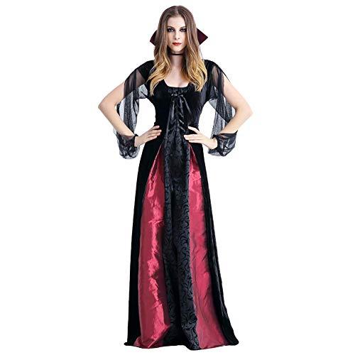 Women's Vampire Queen Costume Vintage Medieval Renaissance