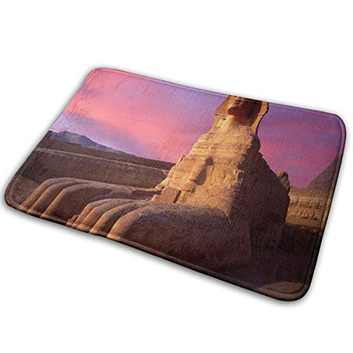 FunnyCustom Doormat Sphinx Wallpapers Personalized Non Slip Water Absorption Bath Mat for Kitchen