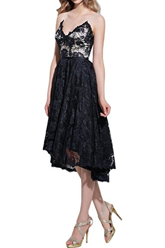 Royaldress Attraktive Spitze Asymettrisch A-linie Abendkleider Partykleider Promkleider Wadenlang Festlich