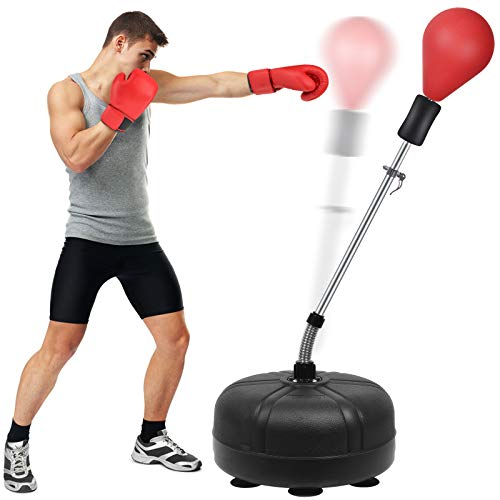 Mdikawe Punching Bag with Stand for Adults & Kids, Adjustable Height Freestanding Punching Ball Boxing Speed Bag, Ideal…