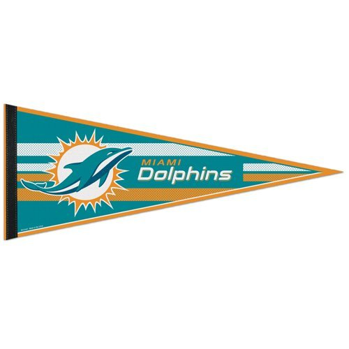 NFL Miami Dolphins WCR63773413 Carded Classic Pennant, 12