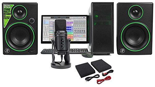 (SAMSON G-Track Pro Studio USB Condenser Microphone+Interface+(2) Mackie Monitors)