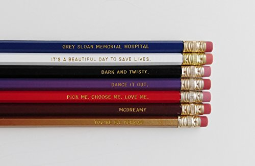 Greys Anatomy Engraved Pencil Set Youre My Person Nurse Gift Gold Foil Pencil Set Engraved Pencils Funny Pencils Gift for Nurse Student Gift by Define Design 11