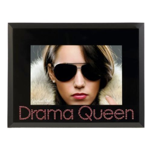 Grasslands Road Her Majesty Drama Queen Frame with Pink Crystal Embellishments, Holds 4 by 6-Inch Photo