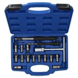 17pc Diesel Injector Seat Cutter Cleaner