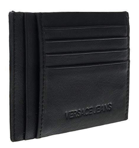 Versace EE3YSBPF4 E899 Black/Navy Card Holder Wallet for Mens