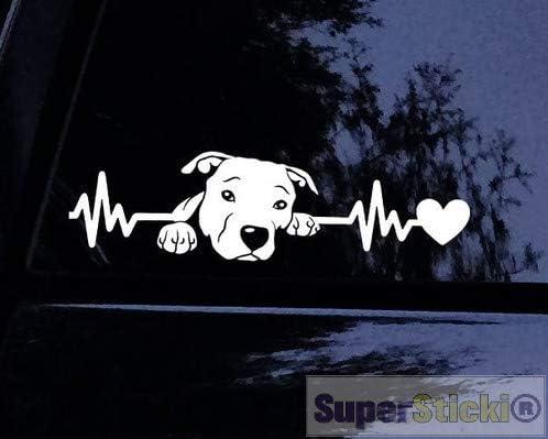 Herzschlag Pitbull Puppy s/ü/ß niedlich ca 20 cm Tuning Racing Rennsport Renndecal Aufkleber Sticker Decal aus Hochleistungsfolie Aufkleber Autoaufkleber Tuningaufkleber Racingaufkleber Rennaufkleber