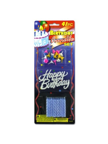Bulk Buys PA007 Birthday Candle Set Case of 144