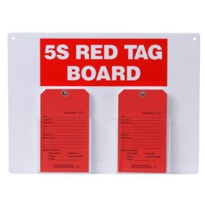 5S RED TAG BOARD12'' H x 18'' W Steel (100) Red Tags, (1) Dry Erase/Magnetic Board