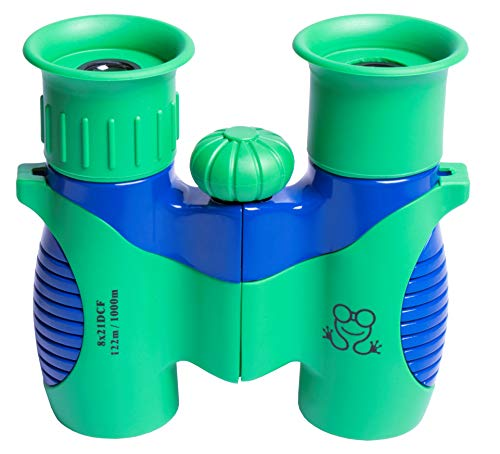 Golden Frog Kids Binoculars Set - 8x21 High Resolution & Real Optics - Shock Proof Compact Kid Binocular for Bird Watching, Outside Play, Spy Gear & Outdoor Explorer - Great Gift for Boys & Girls ()