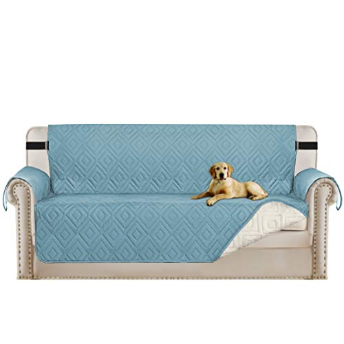 (Turquoize Pet Friendly Protector for Sofa with Adjustable Straps Furniture Cover with Adjustable Straps, Perfect for Kids, Dogs and Cats, Seat Width up to 66