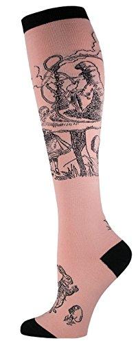 [Socksmith The Caterpillar Womens Knee High Socks (Dusty Rose)] (Female Mad Hatter)